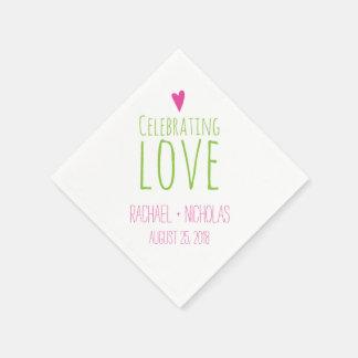 Celebrating Love   Wedding Paper Napkins