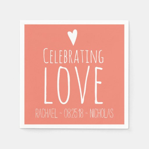 Celebrating Love | Wedding Disposable Napkins