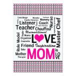 Celebrating Mom - Mother's Day or Mom's Birthday 5x7 Paper Invitation Card