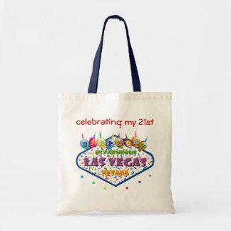 celebrating my 21st BIRTHDAY In Las Vegas tote bag