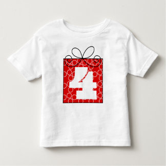 Celebrating My 4th Birthday Present Toddler T-shirt