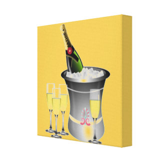 Celebrating New Years Canvas Print