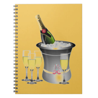 Celebrating New Years Spiral Notebooks