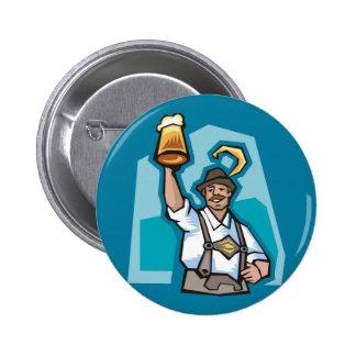 Celebrating Oktoberfest Pinback Button