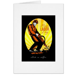 Celebrating Our Workforce Happy Labor Day Poster Card