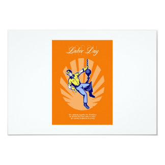 Celebrating Our Workforce Labor Day Greeting Card 9 Cm X 13 Cm Invitation Card