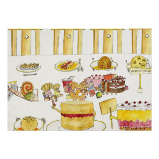Celebrating Pudding Diversity Funny Quirky Art Poster