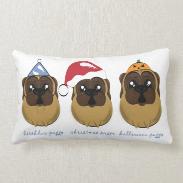 Celebrating Puggo Design Lumbar Pillow