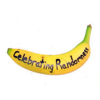 celebrating randomness banana statuette