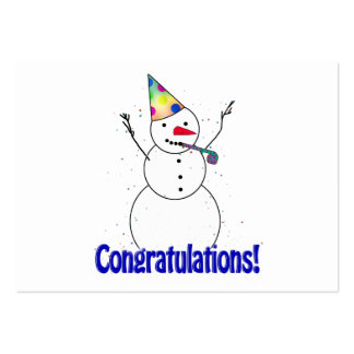 Celebrating Snowman 'CONGRATULATIONS'! Business Card Templates