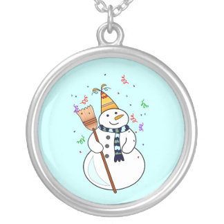 Celebrating Snowman Necklace