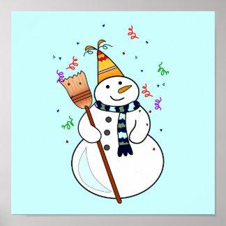 Celebrating Snowman Poster