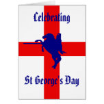 Celebrating St george's day Greeting Cards