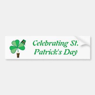 Celebrating St. Patrick's Day Bumper Sticker