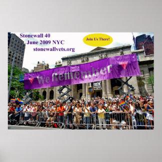 Celebrating Stonewall at the NYC Main Library Poster