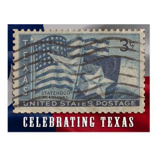Celebrating Texas Statehood Flag Postcard