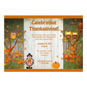Celebrating Thanksgiving invitation