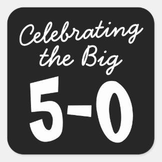 Celebrating the Big 50th Birthday Square Sticker