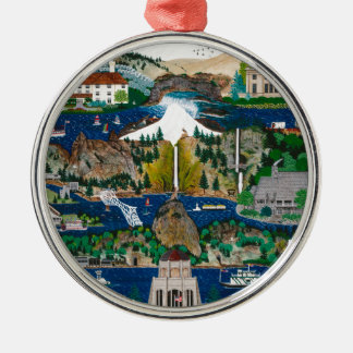 Celebrating the Columbia River Gorge Metal Ornament