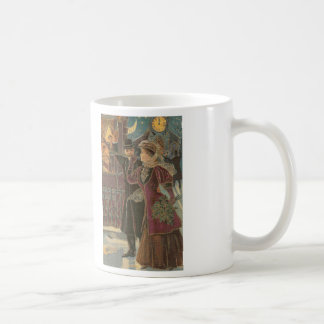 Celebrating the Holidays Cross Stitch Coffee Mug