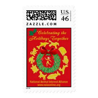 Celebrating the Holidays Together Postage Stamp