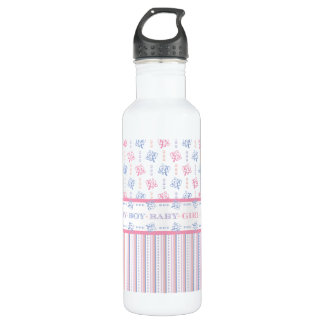 Celebrating the New Mother Baby Girl Boy Shower Water Bottle
