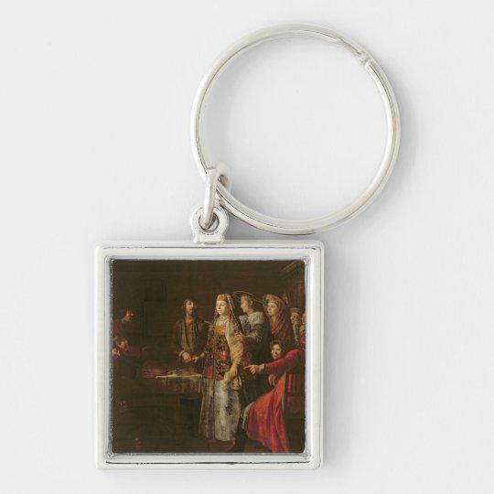 Celebrating the Wedding Agreement, 1777 Keychain