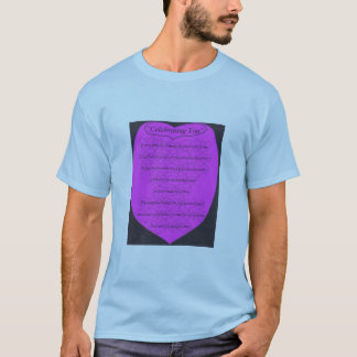Celebrating You poem with hearts T-Shirt
