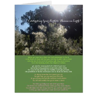 Celebrating Your Birth to Heaven on Earth Card