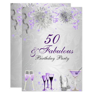 Celebration 50 & Fabulous Birthday Invitation