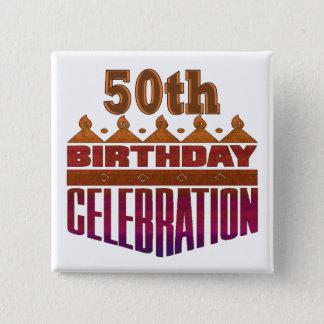Celebration 50th Birthday Gifts Pinback Button
