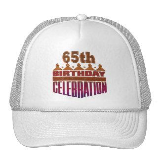 Celebration 65th Birthday Gifts Mesh Hat