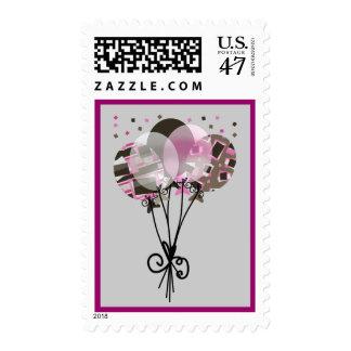 Celebration Balloon Bouquet Postage Stamp