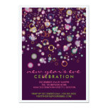 Celebration Bubbles New Year's Eve Party 5x7 Paper Invitation Card