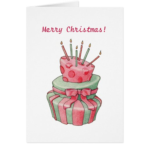 Celebration Cake Christmas Card