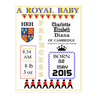 Celebration Cards Royal Princess Charlotte Postcard