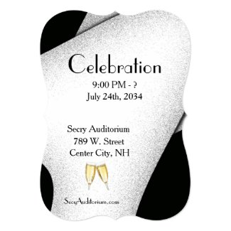 Celebration Champagn Glasses Invitation