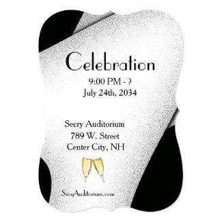 Celebration Champagn Glasses Invitation