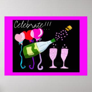 Celebration Champagne Poster