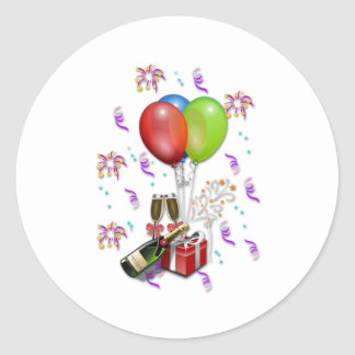Celebration Classic Round Sticker