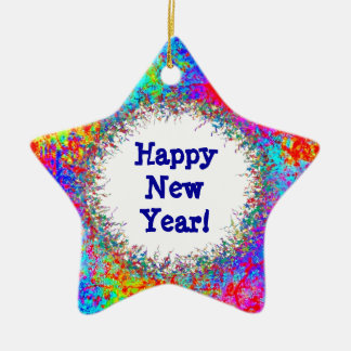 Celebration Custom New Years Star ornament