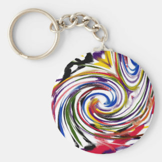 Celebration Day Basic Round Button Keychain