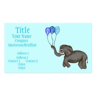 Celebration Elephant (Blue) Business Card