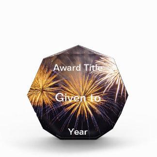 Celebration firework acrylic award