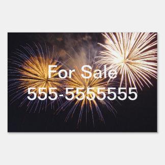 Celebration firework sign