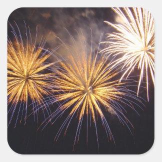 Celebration firework square sticker