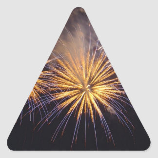 Celebration firework triangle sticker