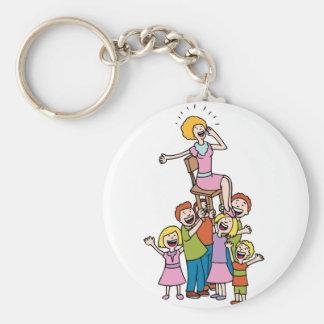 Celebration for Mom Keychain