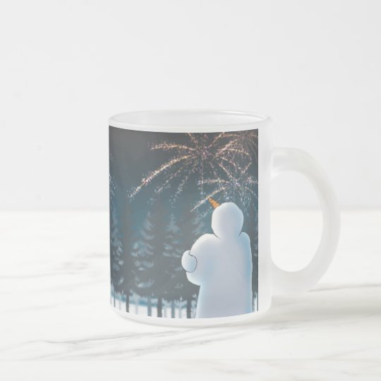 Celebration Frosted Glass Coffee Mug