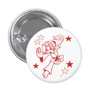 Celebration Girl pinback button